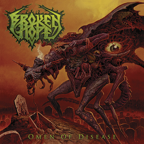 Broken Hope - Omen Of Disease recenzja okładka review cover