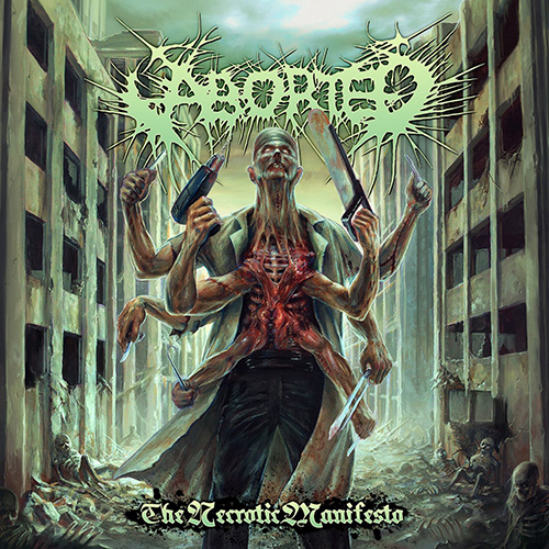 Aborted - The Necrotic Manifesto recenzja okładka review cover