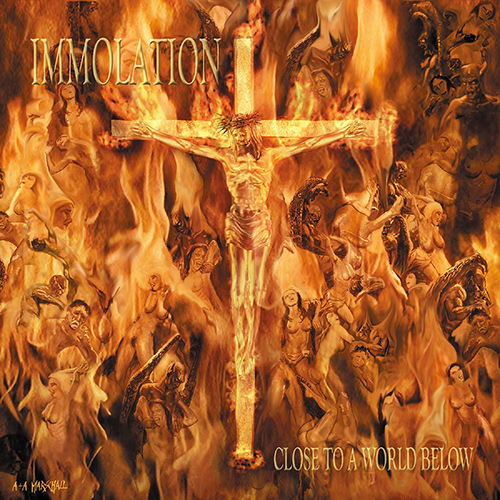 Immolation - Close To A World Below recenzja okładka review cover