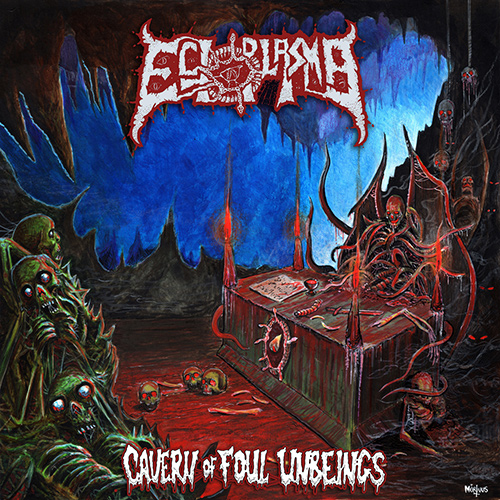 Ectoplasma - Cavern Of Foul Unbeings recenzja okładka review cover